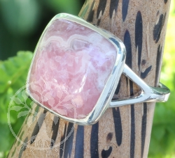 Rhodochrosite Ring Sterling Silver 925 15X25 mm Size 54