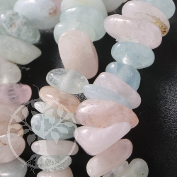Aquamarine and Morganite, Berylle Gemstone Bracelet A-quality