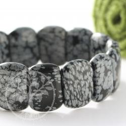 Snowflake Obsidian Bracelet Beatle Small