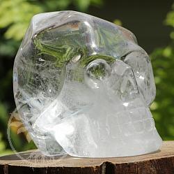 Kristallschädel aus Bergkristall A/A+ 40/49mm Totenkopf aus Edelstein