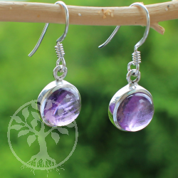 Amethyste Earring Circle Sterling Silver 925 13mm