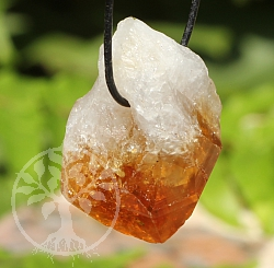 Citrine Natural Single Point Specimen Pendant A/A+ 25/40mm
