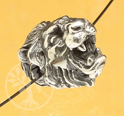 Lion Head Sterling Silver 925 11mm