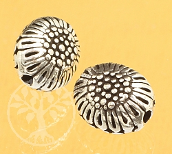 Silver Bead Flowers Sterling Silver 925 12x10mm