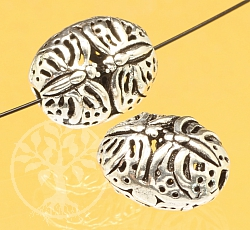 Silver Bead Butterfly Sterling Silver 925 12x10mm