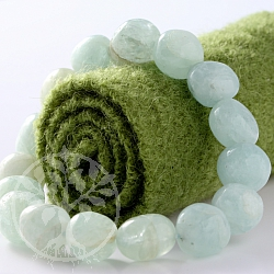 Aquamarine Bracelet Toumbled Stone 12mm