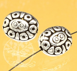 Silver Bead Sterling Silver 925 13X10mm