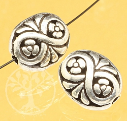 Silber Perle Floral Infinity Sterlingsilber 925 13x10mm