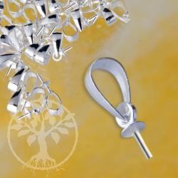 Öse Silber925 Halblinse mit Stift für Anhänger, 6mm Stiftöse, 3mm Cup, 3mm Stift