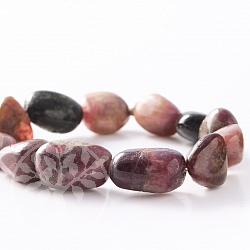 Tourmaline bracelet tumbled Stone 18mm