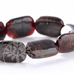 Garnet Rectangle Bracelet