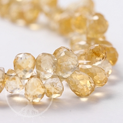 Citrine beads drop 7x4mm gemstone