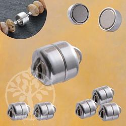 Magnetverschluß klein, echt Silber 925, 5,5 mm, Button
