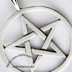 Pentagram Anhänger Silber 925 BIG PE 1