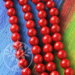 Coral Ball Glossy Beads 8,5mm loose beads.