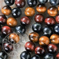 Tiger Eye Ball Beads multicolor 8mm