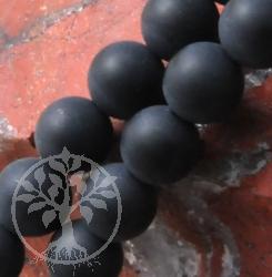 Obsidian Kugelperlen 14 mm Matt Länge ca. 40 cm
