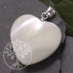 Perlmutt Heart Pendants Mother of Pearl