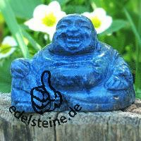 Buddha made of dumortierite