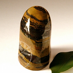 Tigers Eye with Tiger Iron Freeform Decoration 80-95mm heigh