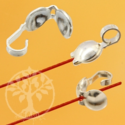 Kalotte zum Klappen 0.56mm Loch 9x3.8mm Silber 925 Klappkalotte Ring offen