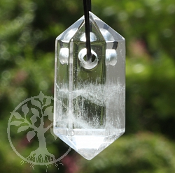 Crystal Pendant Natural 33X16mm