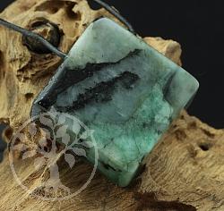 Emerald Pendant Square 25mm