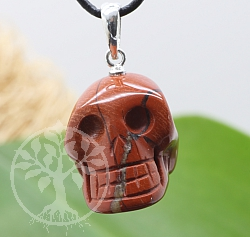 Red Jasper Pendant Small Skull 24x15mm