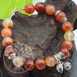 Carneol Armband Mit Silber Perlen 925 Länge ca 19-20cm