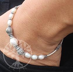 Perlen-Silber Armband 20cm