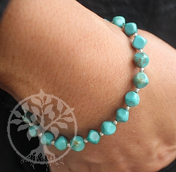 Turquoise Bracelet With Silver 925 20cm