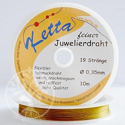 Ketta Schmuckdraht 0,35mm 19 Stränge goldfarben