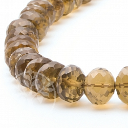 Cognac Quartz Beads facetted