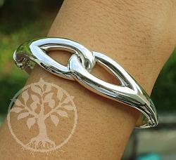 Silber Armband 925 Unendlichkeit mit Scharnier