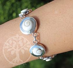 Shiva Shell Bracelet Sterlingsilver 925 19.5cm