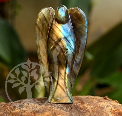 Labradorite Angel Carving 62mm