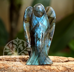Labradorit Angel Carving 53mm Carving natural Gemstone