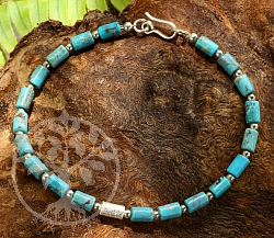 Turquoise Bracelet With Sterlingsilver 925 20cm