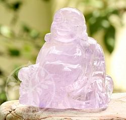 Amethyst Buddha Edelstein Figur ca 52X47mm U 14201