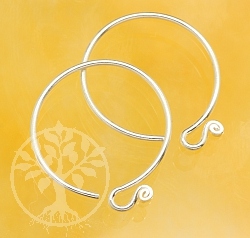 Ear Hook Circle Sterlingsilver 925 19mm