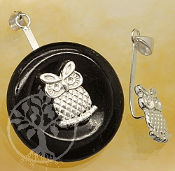 Donut Owl Sterling Silver 925 Length 30mm