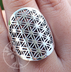 Silver Rings Flower of Life Steringsilver 925 25mm