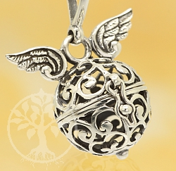 Angel whisperer wing silver 925 Celtic wing pendant sterling silver 925 14mm