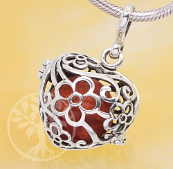 Harmony Ball Flower Heart Pendant Sterlingsilver 925 20mm