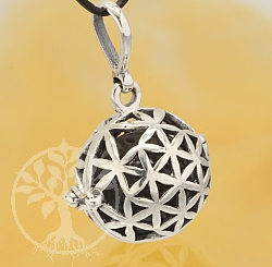 Harmony Ball Celtic Flower Pendant Sterlingsilver 925 16mm