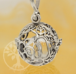 Harmony Ball Rose Flower Pendant Sterlingsilver 925 20mm