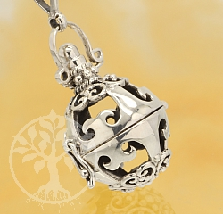 Harmony Ball Lantern Pendant Sterling Silver 925 18mm