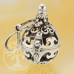 Harmony Ball Lantern Pendant Sterling Silver 925 16mm