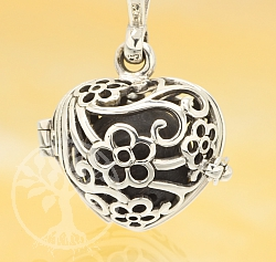 Harmony Ball Flower Heart Pendant Sterlingsilver 925 16mm