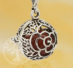 Harmony Ball Rose Flower Pendant Sterlingsilver 925 16mm